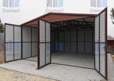 drzwi do garażu dwuskrzydłowe