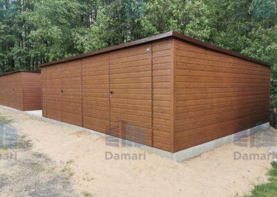 garaż blaszany - dach jednospadowy